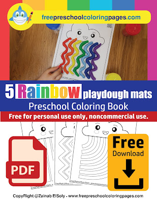 Free 5 playdough mats for preschoolers perfect for spring season and Easter holiday. your kid will enjoy this colorful activity, learn more about colors and improve fine motor skills