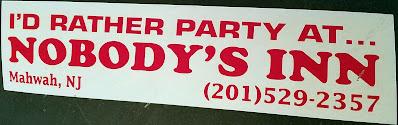 Nobody's Inn bumper sticker