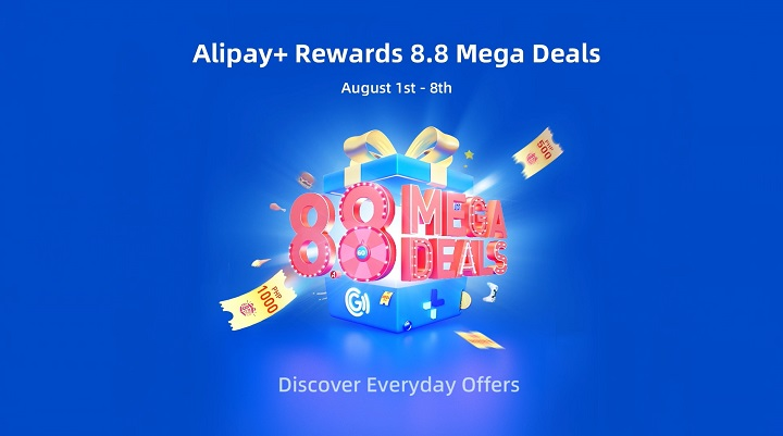 Win Mega Raffle Prizes when you activate Alipay+ Rewards in Gcash Now!