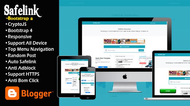 Template Blogger Safelink Bootstrap 2 Responsive