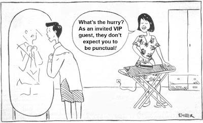 malaysia cartoon making fun at Malaysian punctuality
