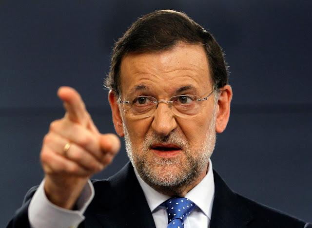 """Mariano Rajoy: """"Eu é que sou o presidente do Governo da Espanha""""."""