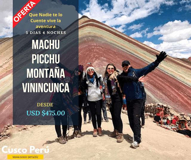 Paquete a Machu Picchu + Montaña Vinincunca