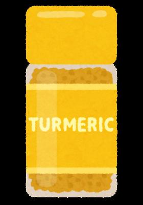 ターメリックのイラスト(瓶)