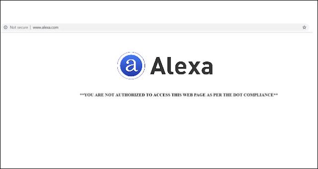 Alexa Blocked! Alexa.com is banned in India
