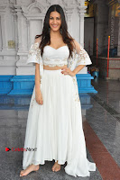 Telugu Actress Amyra Dastur Stills in White Skirt and Blouse at Anandi Indira Production LLP Production no 1 Opening  0074.JPG