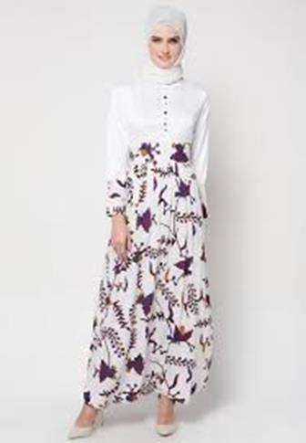 Contoh Model Baju Batik Kombinasi Yang Modern Dan Cantik