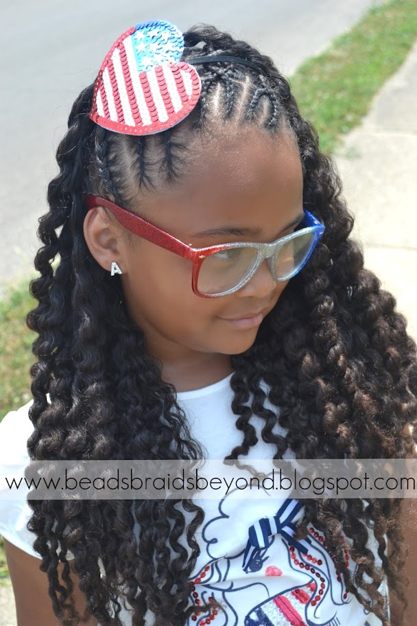 Beads Braids And Beyond Criss Cross Cornrows With Two