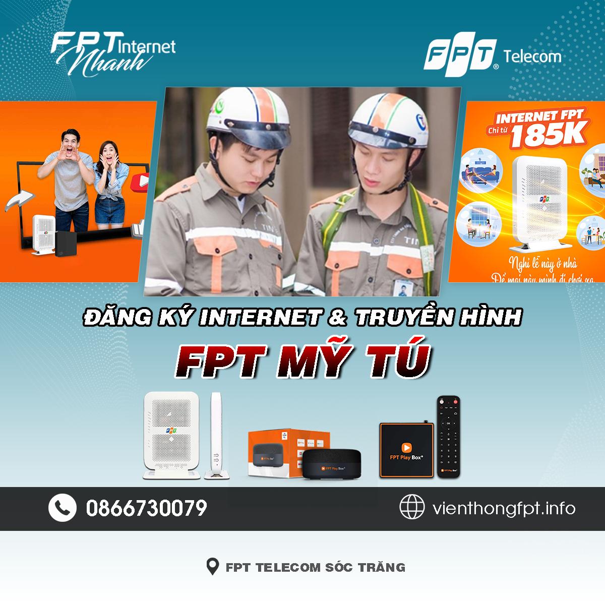 Tổng đài FPT Mỹ Tú - Đơn vị lắp mạng Internet và Truyền hình FPT