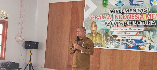 Kadis Pendidikan Natuna Membuka Secara Resmi Implementasi Gerakan Indonesia Membaca Satu Hari Literasi