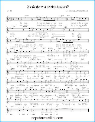 Que reste-t-il de nos amours? chords jazz standar
