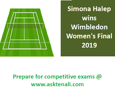 Simona Halep Wins Wimbledon 2019    Simona Halep wins Wimbledon 2019 Womens  by beating Serena Williams 6-2, 6-2.