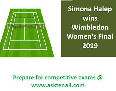 Simona Halep Wins Wimbledon 2019    Simona Halep wins Wimbledon 2019 Womens  by beating Serena Williams 6-2, 6-2.