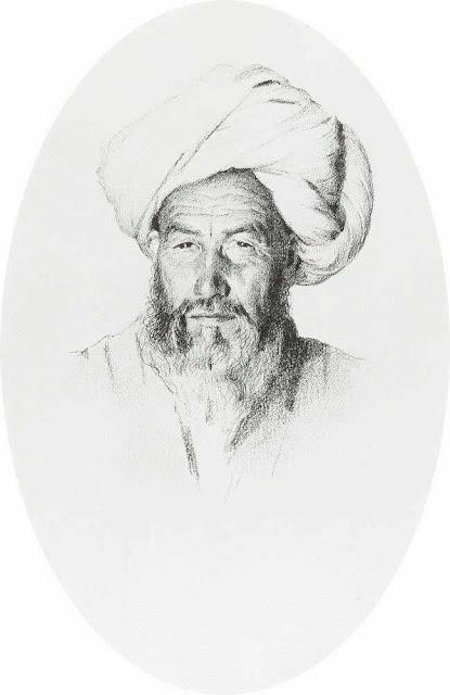 Василий Васильевич Верещагин - Узбек, старшина (аксакал) деревни Ходжагент. 1868