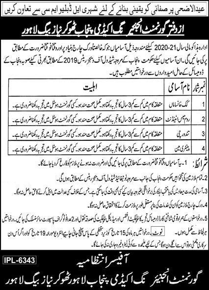Government Engineering Academy Punjab Jobs 2020 Latest