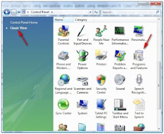 Menonaktifkan (disable) internet printing client di windows vista