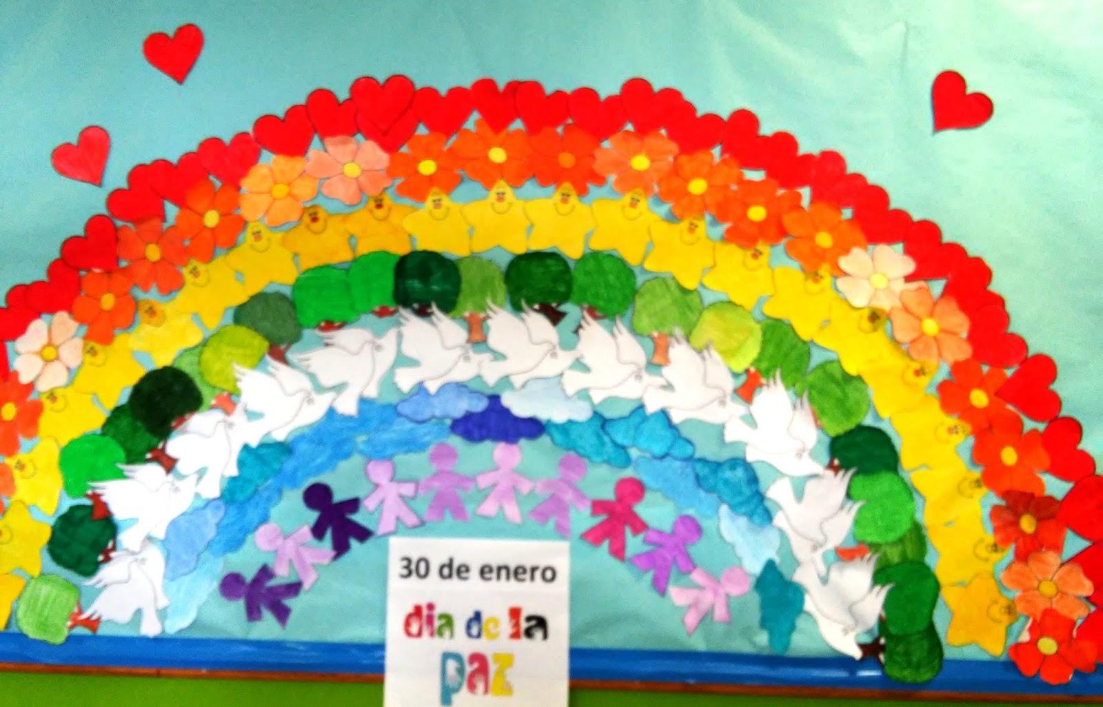 Rincón De Infantil Día De La Paz: RINCÓN Del CEIP MARZÁN: 30 De Enero