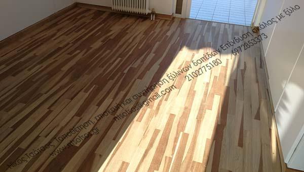 Δείτε παρακάτω πως ηταν το ξύλινο πάτωμα πρίν και πώς έδειξε μετά
