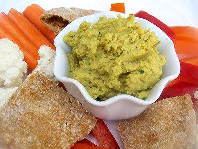 Indian-style spicy hummus