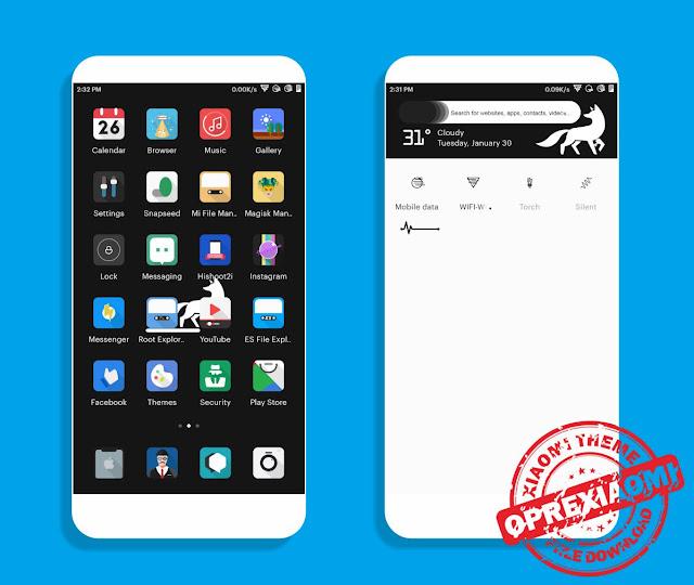 Tema Xiaomi Keren Rumble Mtz Full Flat Paling Keren Untuk MIUI 9 / MIUI 8