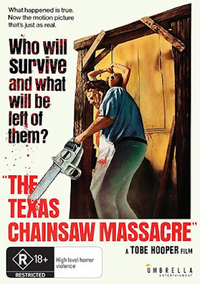 Cover art for Umbrella Entertainment's DVD release of THE TEXAS CHAINSAW MASSACRE!