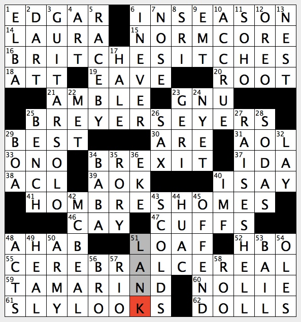 Rex Parker Does The Nyt Crossword Puzzle Ally In Bygone Legal Drama Wed 9 25 19 Setting For Forrest Gump Movie Poster Prop For Dancer Gypsy Rose Lee Fashion Trend