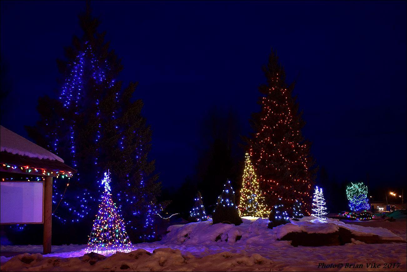Christmas Lights Steelhead Park Houston British Columbia