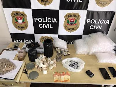 Polícia Civil prende em flagrante dois suspeitos de tráfico de drogas em Registro-SP