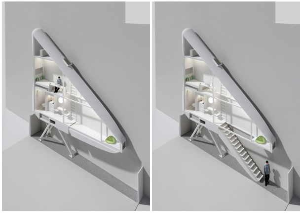 Na Polônia um casa será construída em um pouco mais de 1 metro de espaço