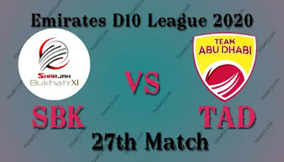 Who will win SBK vs TAD 27th T20I Match