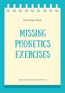Missing Phonetics in Big Letters Exercises Logo