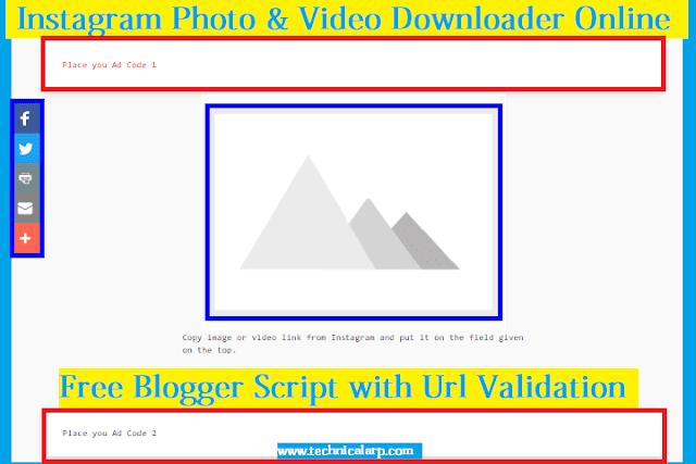 Instagram Photo and Video Downloader Script