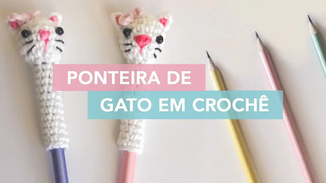 Tutorial Puntera de Lapices Gatitos a Crochet