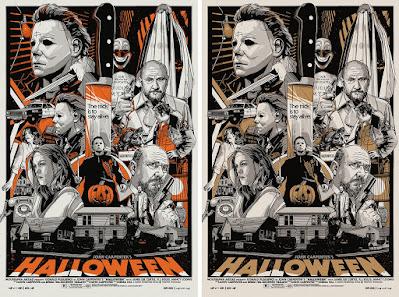 Halloween Movie Poster Screen Print by Tyler Stout x Grey Matter Art