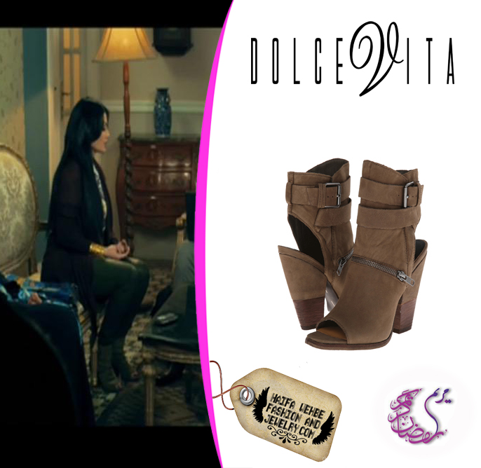 3edb56db9b86 Haifa Wehbe Wearing Dolce Vita  Nayla  Open Toe Leather Booties
