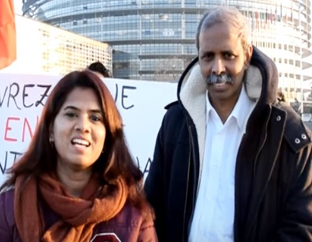 Justice for Tamil Eelam | Justice for Tamil Genocide | Protest near European Parliament | Sudhaz WOW