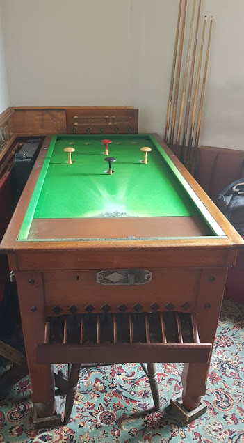 The Bar Billiards table at The Railway pub in Stockport