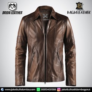 Jual Jaket Kulit Asli Garut Pria Domba Original Brida Leather B07   WA 08813430588
