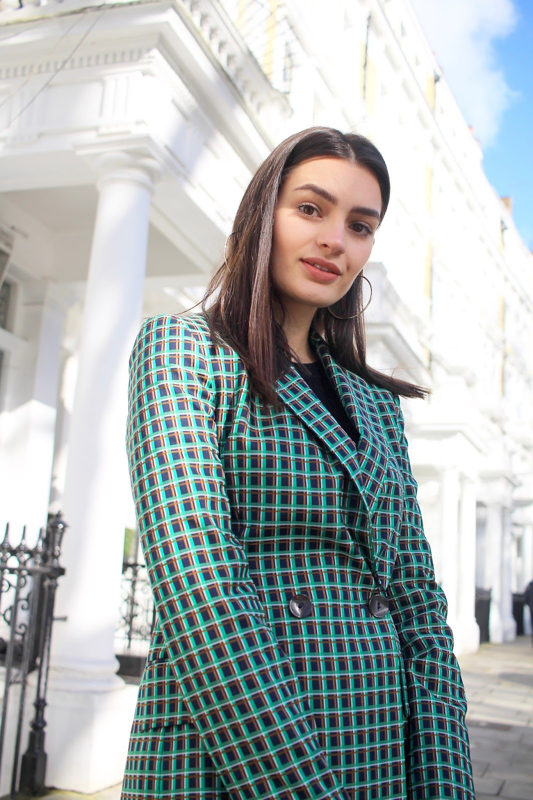 green check suit zara peexo fashion blogger