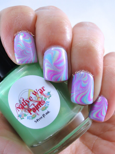 Native War Paints Water Marble