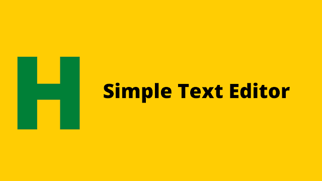 HackerRank Simple Text Editor problem solution