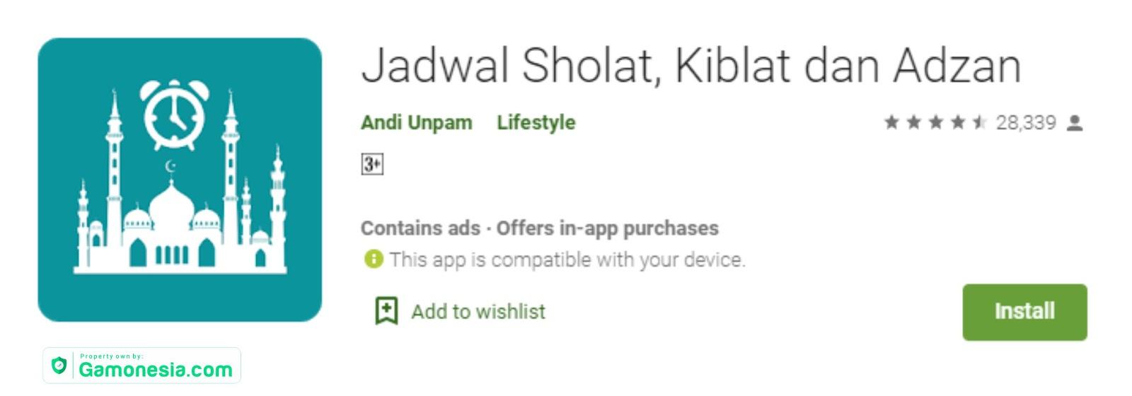 Aplikasi pengingat Jadwal Sholat dan adzan offline