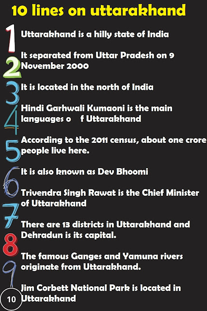 short 10 lines essay on uttarakhand in english
