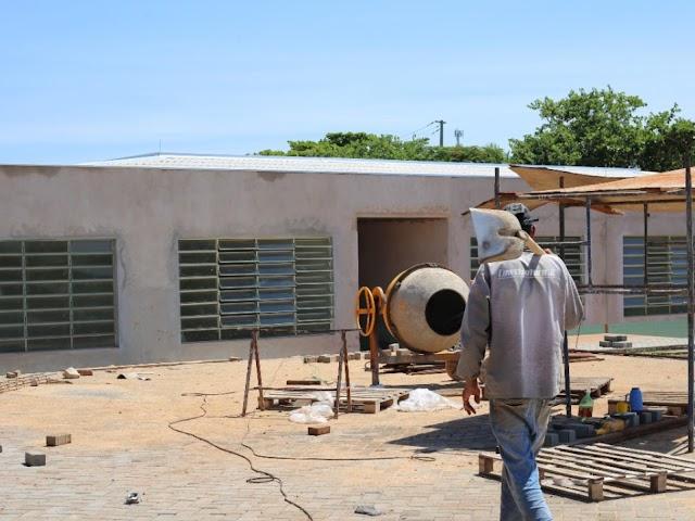 Obras de reforma e ampliação na Escola Zizo entram na fase final