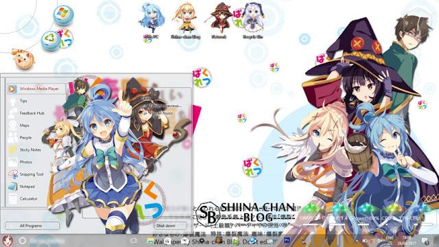 Windows 10 Ver. 1703 Theme KonoSuba! by Enji Riz