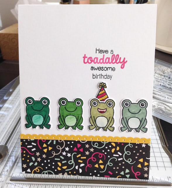 Sunny Studio Stamps: Froggy Friends and Turtley Awesome card by Kate Deignan