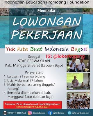 Lowongan Kerja Indonesia Education Promoting Foundation Sebagai Staf Perwakilan