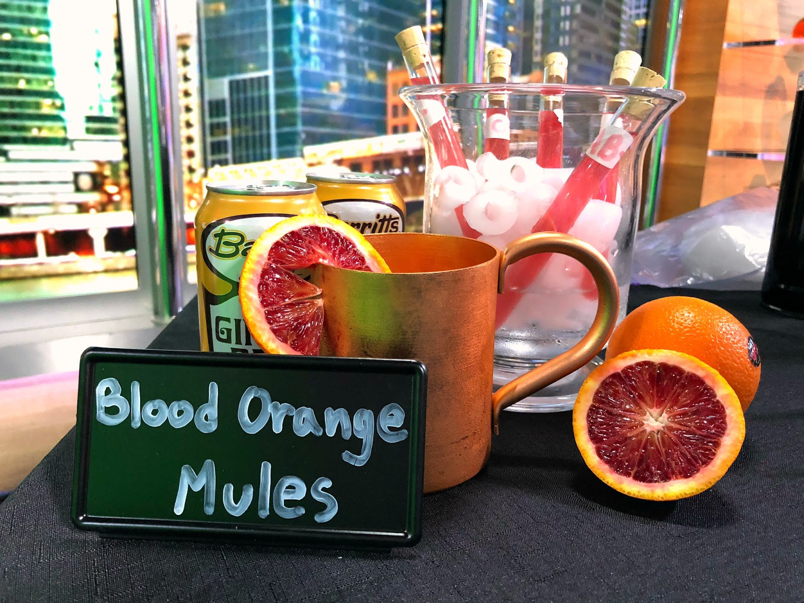 Murder Mystery Party cocktails- Blood Orange Moscow Mules