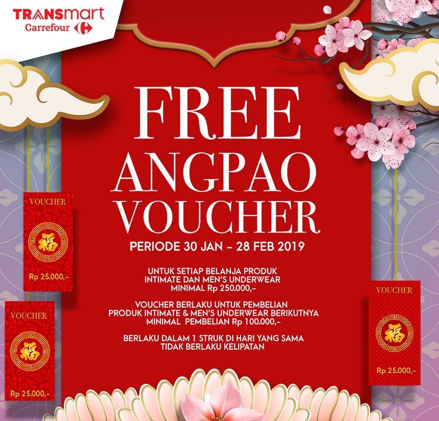 #Transmart - #Promo Free Angpao Voucher 25K Belanja Produk Intimate dan Men's Underwear