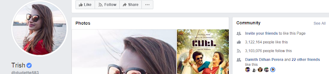 Trisha Krishnan Facebook